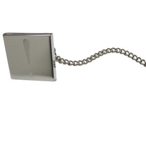 Silver Toned Etched Exclamation Mark Tie Tack